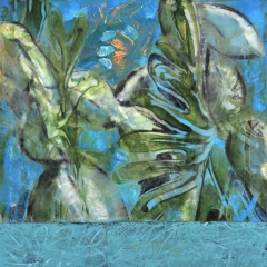 Claffey-Debra_Aquamarine_oil-encaustic-monotype-collage-on-panel_16-x-16_2020_-202075