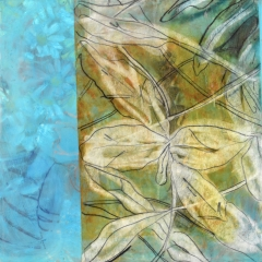 Claffey-Debra_Leafy-and-Cerulean_oil-encaustic-monotype-collage-on-panel_16-x-16_2020_-202077