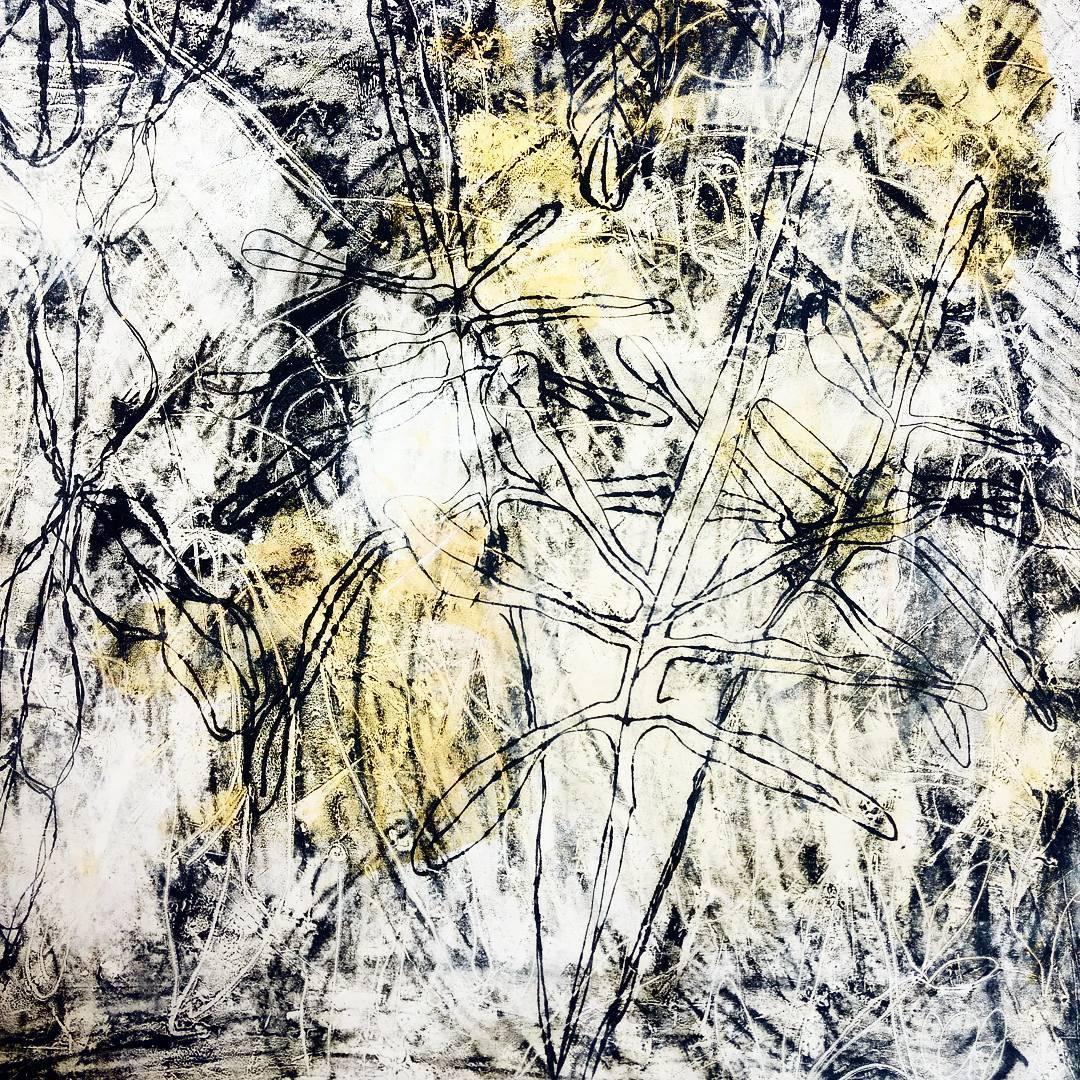 tracemonotype, wax, oil, workinprogress contemporaryart