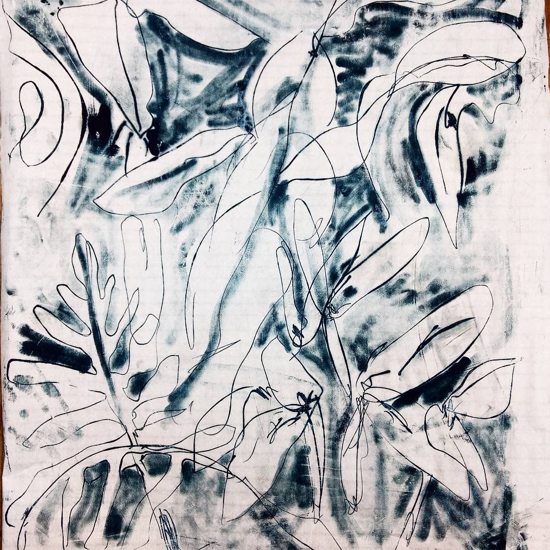 A Cold Wax Monotype