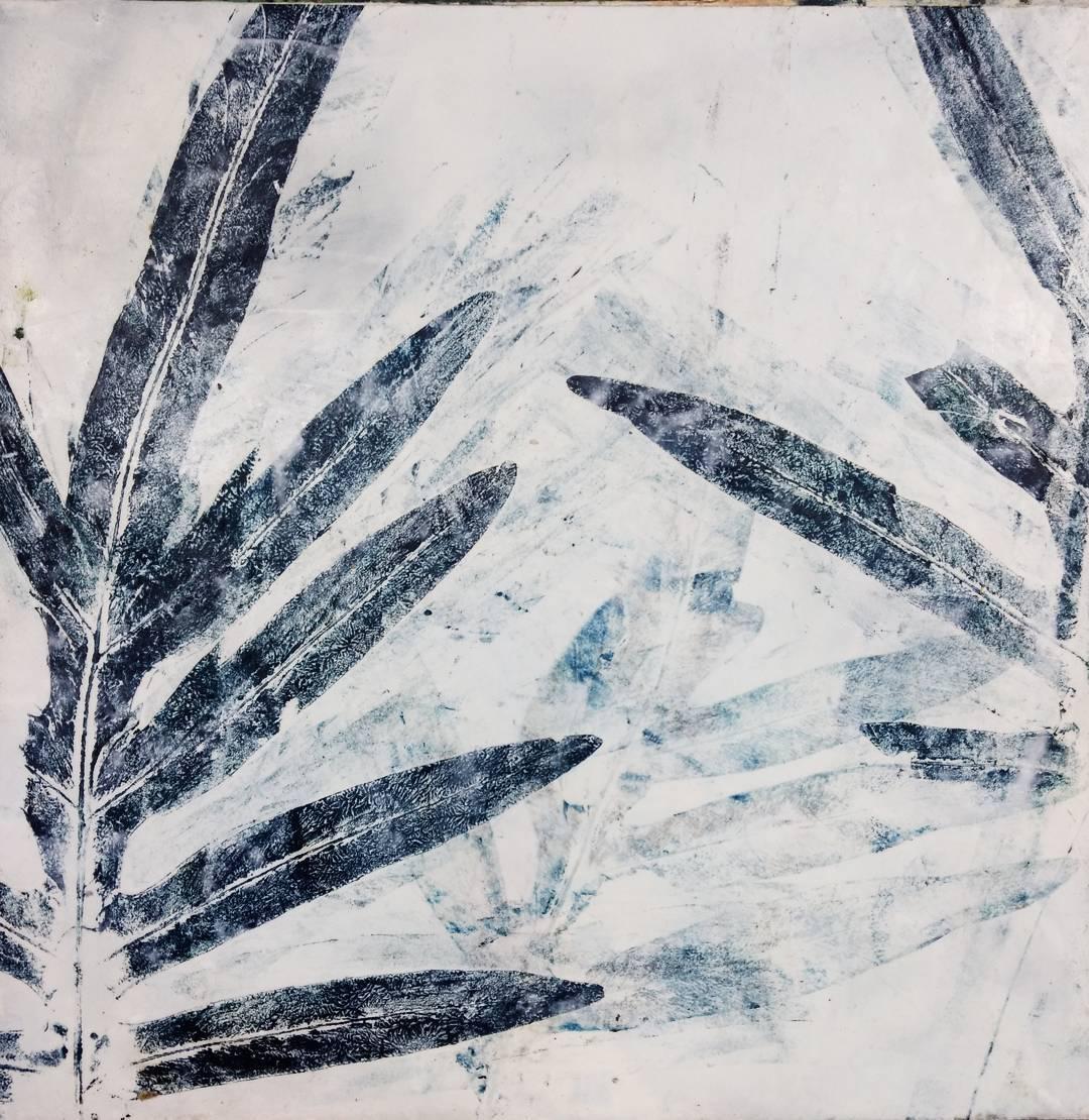 Arctic Blue Star series, 12″x12 on panel