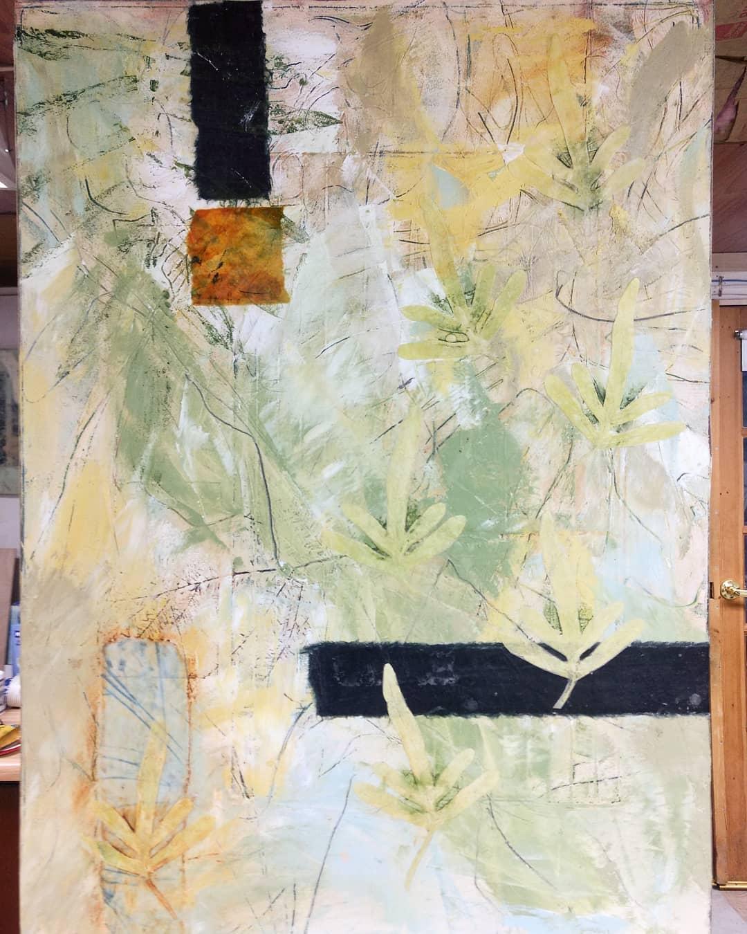 collage, oil, encaustic, graphite, painting , drawing , botanicalabstract , botanical debraclaffeyart , contempoaryartcurator , plantlife
