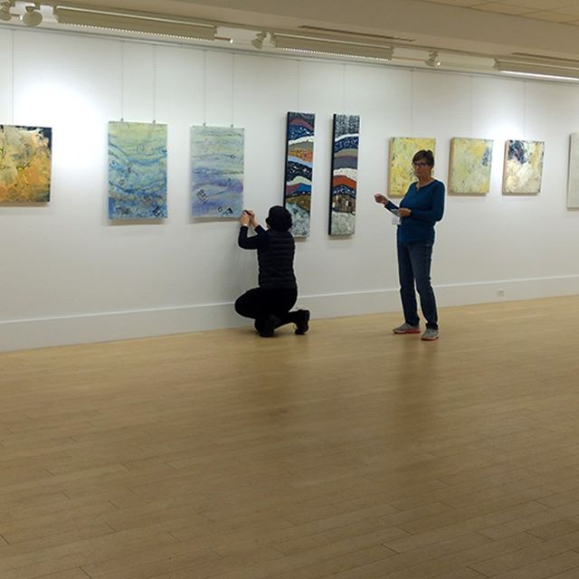 Finishing up the install yesterday of Tipping Points, an exhibition of work by Charyl Weissbach, Patricia Gerkin, Donna Hamil Talman, and myself, up until November 9, 2018 Thayer Art Gallery Thayer Academy, Braintree, MA