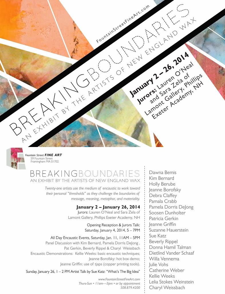 Breaking Boundaries Exhibtion at Fountain Street Fine Art