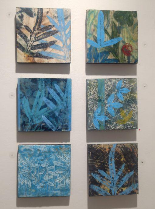 8 x 8 inch mixed media on panels