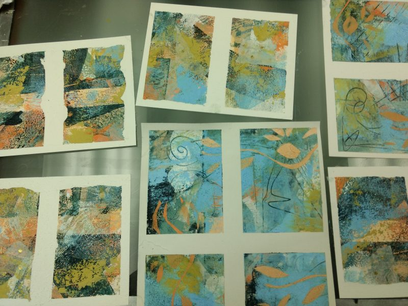 Good Cold Wax Painting workshop on Sunday. Forgot to take pictures