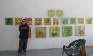 Kellie Weeks in her studio