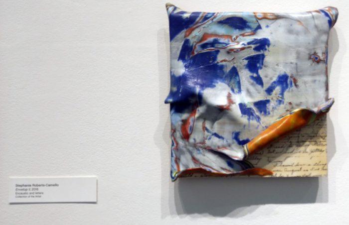 "Stephanie Roberts-Camello, Envelop II, 14"" x 14"" x 2"", 2016"