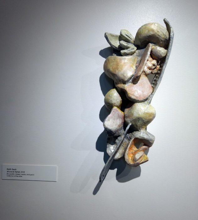 "Ruth Sack, Morandi Relief, 19"" x 7.5"" x 5"", 2017"