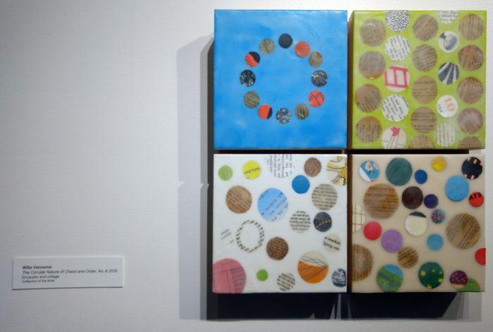 """Willa Vennema, The Circular Nature of Chaos and Order no. 6, 16"""" x 16"""", 2017"""