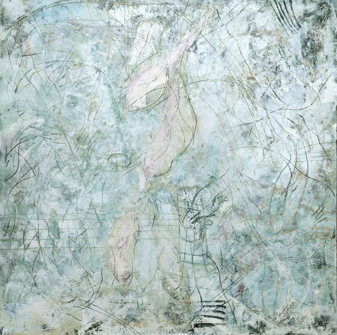 The Singing Tree 14, v.2, oil, wax, graphite, pigment stick on panel, 40 x 40 inches,